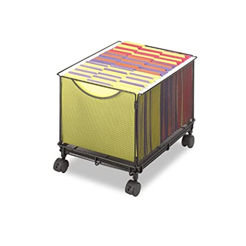 Onyx Mesh Mobile File Cube, 13-1/2w x 16-3/4d x 13h, Black, Sold as 1 Each