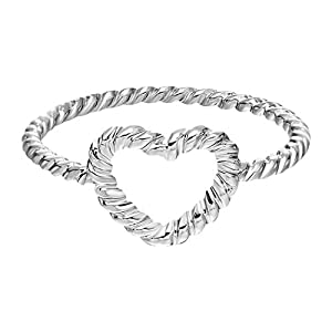 Chandler Everyday Accessories Twisted Heart Love Valentine's Toe Ring Minimalist Jewelry Band Midi Ring for Women Girl Gift