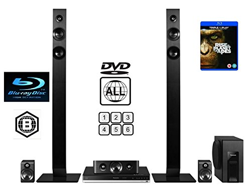 Panasonic Multiregion (for DVD only) SCB-TT465EB9 1000W 5.1 Channel Full HD 3D Smart Blu ray Home Cinema System