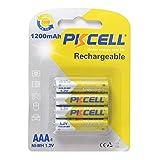 4pcs PKCELL 1200mAh NI-MH Batterien Eco-Friendly 1,2 V Wiederaufladbare AAA-Batterie