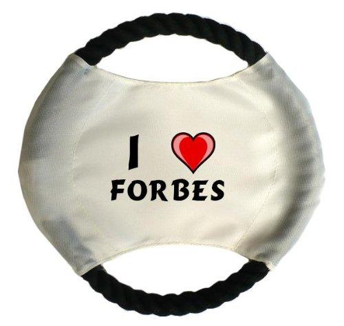 personalisierter-hundefrisbee-mit-aufschrift-ich-liebe-forbes-vorname-zuname-spitzname