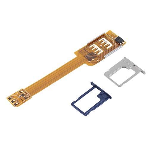 JullyelegantDE Doppelter Doppel SIM Karten Adapter, 2 Handy SIM Karten Konverter für Samsung, Gelb