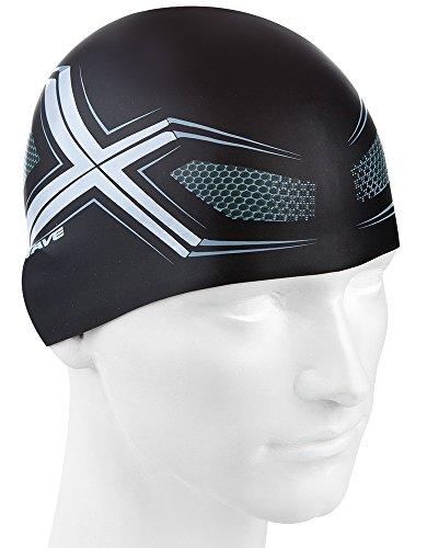 Spyder Gorro de silicona, Unisex, color negro/plata, tamaño talla única