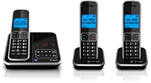 BT Inspire 1500 Trio Digital Cordless Phone with Answer Machine - Black (discontinued by manufacturer)