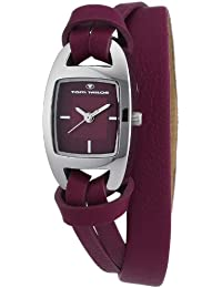TOM TAILOR Damen-Armbanduhr Analog Quarz Leder 5408303