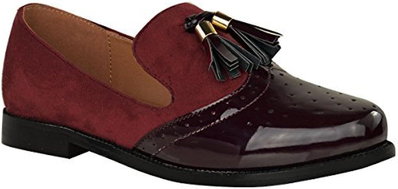 Mujer Vintage Borla Mocasines Planos Escuela Oficina Zapatos Zapatos Oxford Talla