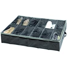 Compactor Dora - Organizador para zapatos, 12 pares, tapa transparente de PEVA