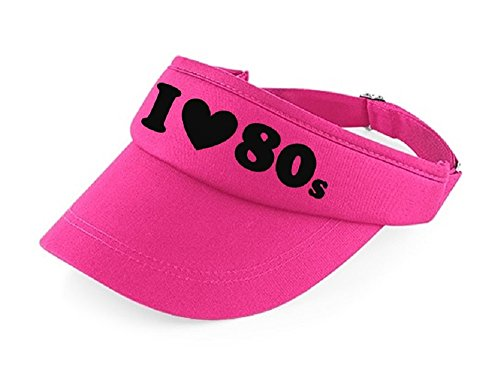 I LOVE THE 80s Pink Visor