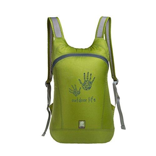 unimango Ultra Light Packable handliches Reise Rucksack wasserabweisend Tagesrucksack Outdoor Umhängetaschen 14L grün - grün
