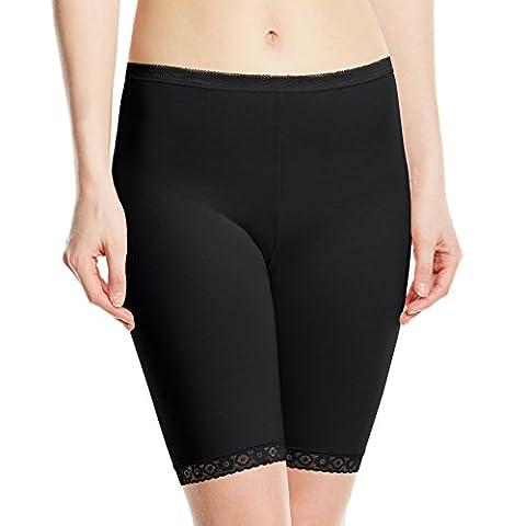 Sloggi - Basic Long - Short - Uni - Femme - Noir - FR : 44 (Taille Fabricant : 14)