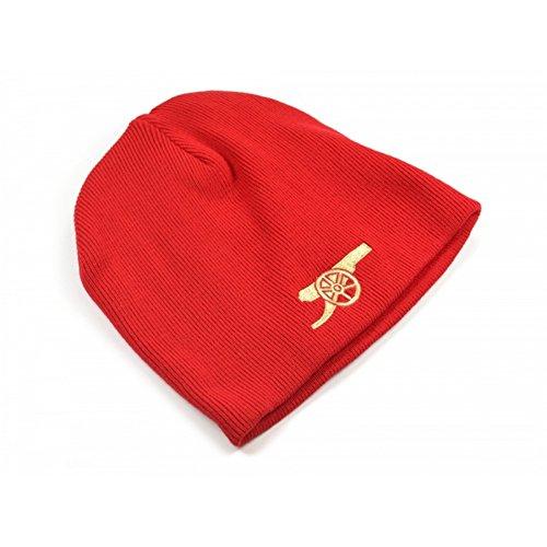 Arsenal FC Fußball Core Kanonen Wappen Beanie Mütze (Einheitsgröße) (Rot/Gold) - Fc Arsenal-fußball-hut
