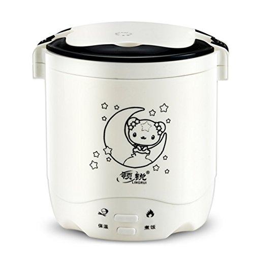 Reiskocher Multifunktions-Elektro-Slow Cooker Küche perfektioniert automatische Antihaft-Herd (Liner wünschenswert und nicht wünschenswert, 1.2L, 220W) ( Farbe : Weiß , Design : The liner is not desirable )