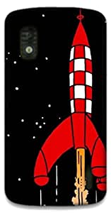 The Racoon Grip Destination Moon hard plastic printed back case / cover for LG Nexus 4