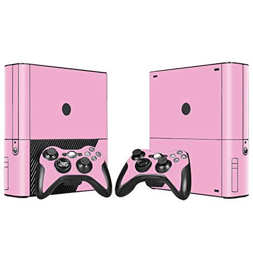 Skin für Xbox 360 E Konsole und 2 Fernbedienungen, Pink