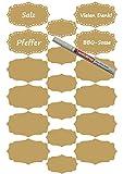 das-label Aufkleber | 18 Vintage Design No.1 gold matt | in 2 Größen inkl. wasserfesten Edding | Valentinstag | Muttertag | Scrapbook | Geburtstag | Geschenke | zum bekleben von Autos | Tüten | Geschenkkartons | selbstklebende Markierungspunkte