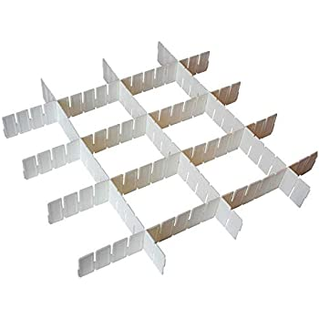 9cm Tiefe 5-tlg Wei/ße Verstellbare Schubladenteiler Aufbewahrung Organizer Fachteiler K/üche Teiler Set Schubladeneinsatz f/ür Schubladen Schreibtisch Bad 5 Trennw/ände von 43cm