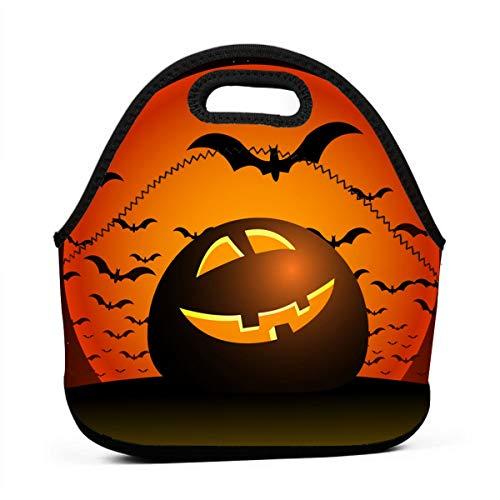 Lunchtaschen für Mädchen, Halloween-Nacht, günstige Taschen für Frauen, 3D-Druck, Lunchbox, Lebensmittelbehälter, Picknick-Tasche, Handtasche