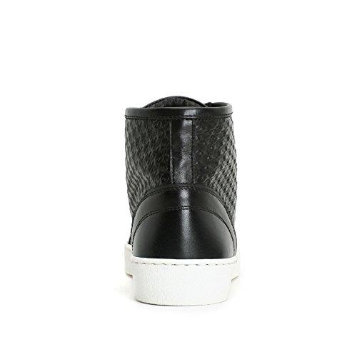 Alesya Sport by Scarpe&Scarpe - Sneaker mit Hahnentritt-Effekt, Leder Schwarz