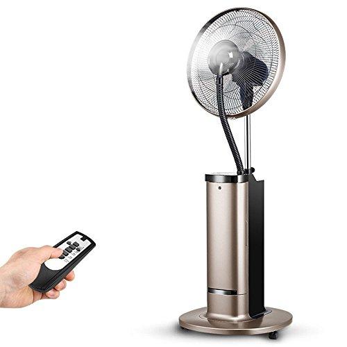 Mobile Klimageräte Xiaolin Spray Fan Hause Boden Fan Vertikale Schlag Wasser Nebel Wasserkühlung Fan Fernbedienung (Farbe : Gold) (Wasser-schlag-haus)