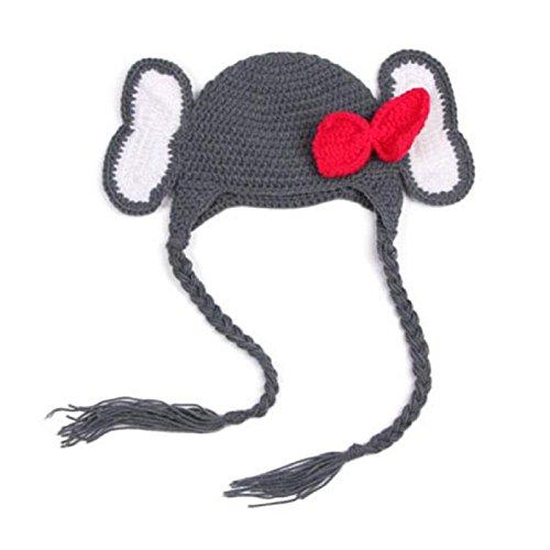 Beanie protezione del bambino, FEITONG Ragazza del bambino Elefante del Crochet del Knit di inverno del cappello Beanie Cap