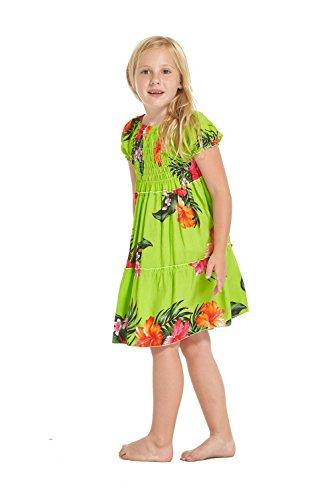 Nia-hawaiano-Juego-de-vestidos-y-pantalones-a-juego-en-Verde-lima-Floral-Tamao-8