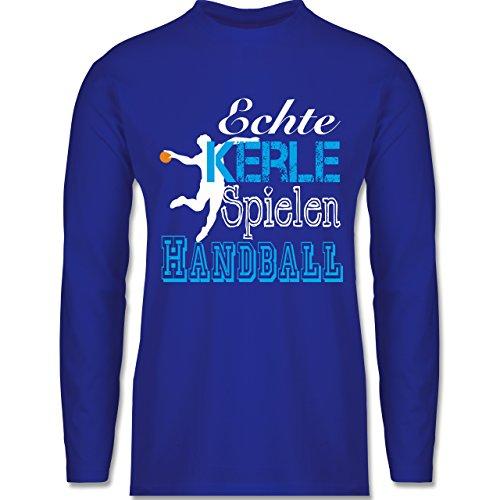 Handball - Echte Kerle Spielen Handball weiß - Longsleeve / langärmeliges T-Shirt für Herren Royalblau