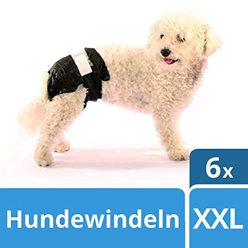 SwissPet Einweg-Hundewindeln für Welpen, Rüden und Hündinnnen, Verschiedene Größen XS - XXL (Gr. XXL (6 STK))