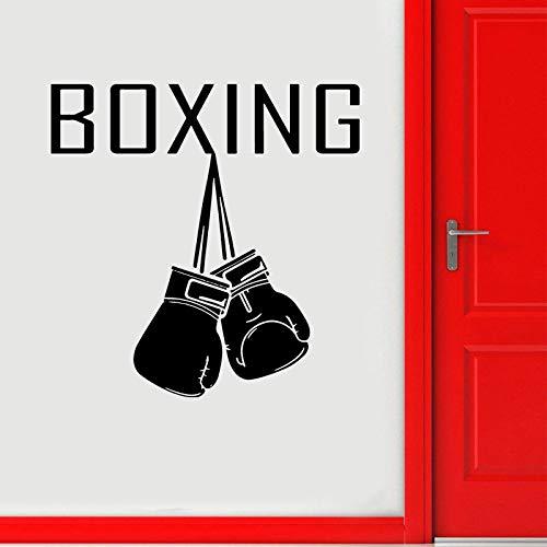 guijiumai Boxhandschuhe Logo Wandtattoo Sport Aufkleber Home Gym Innendekoration Kampfkunst Fight Club Decor Abnehmbare Aufkleber 8 57x58cm