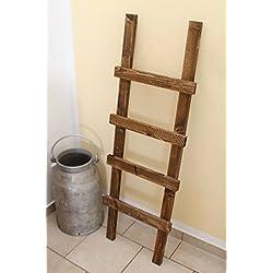 Deko Escalera toallero, Vintage, Shabby Chic madera 118x 39x 5cm, color marrón oscuro