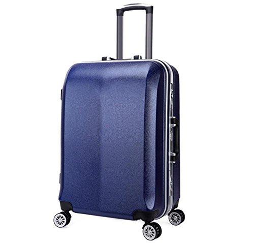 Universale da viaggio valigia trolley in alluminio blue
