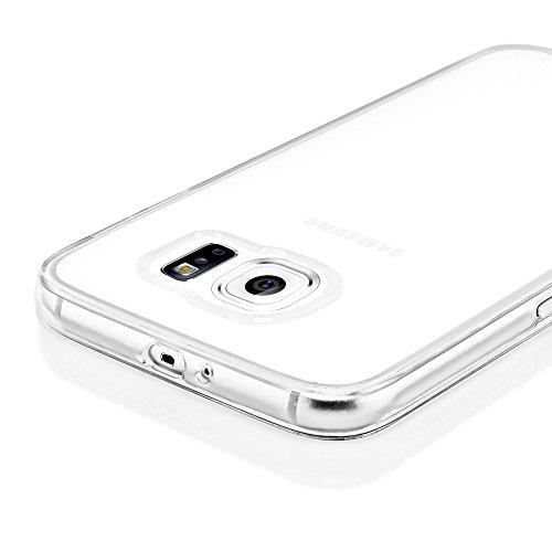 iPhone 6 6S Coque Silicone de NICA, Ultra-Fine Housse Protection Transparente Cover Slim Etui, Mince Telephone Portable Clear Gel Case Bumper Souple pour Apple iPhone 6S 6 Smartphone - Turquoise Blanc