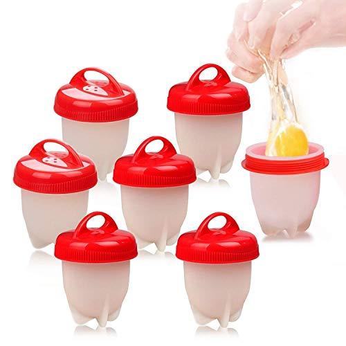 Love77 Cocedor Huevos, Cuecehuevos, Recipiente para Cocer Huevos, Ahorrar Tiempo, 7 PCS Cocedor Huevos Salud Y Seguro Huevos Escalfados Cocedor