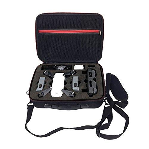 Flycoo Tasche für DJI Spark Drohne Fernbedienung Batterien Zubehör Lagerung Tragbar Schultertasche Handtasche Koffer - Schwarz Tasche