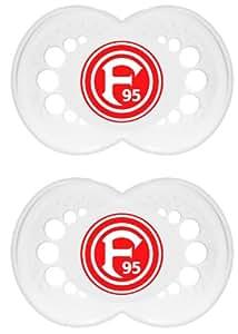 """MAM 66178500 - Original, Bundesliga, Football """"Fortuna Düsseldorf"""" 6-16 Monate, Silikon, Doppelpack"""