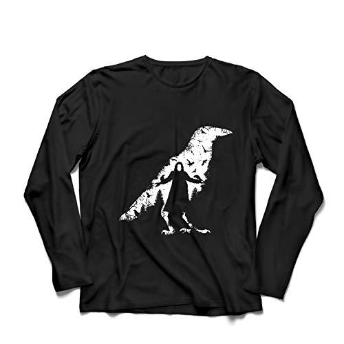 lepni.me Herren T Shirts Die Krähe - die Toten und die verlorenen Seelen (Medium Schwarz Mehrfarben) (Halloween Bauern Tote)