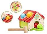 Smart Planet - buntes Hammer Hausspiel mit Bällen aus Holz für Kinder zum Spielen für Drinnen und Draußen - Jouéco® 6 teiliges Set
