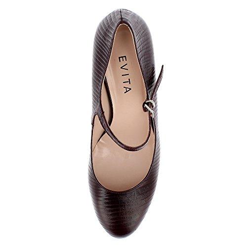 Evita Shoes Bianca, Scarpe col tacco donna Bordeaux