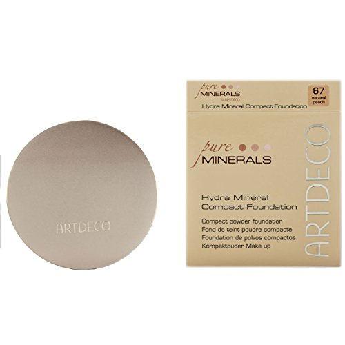 Artdeco Make-Up femme/woman, Hydra Mineral Compact Foundation Nummer 67 Natural peach (10g), 1er Pack (1 x 10 g)
