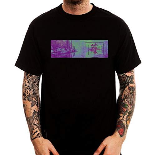 4c57c70ff Vaporwave Aesthetic Japan Lake Forest Fashion tee Shirt Men's Round Neck  Short Sleeves Cotton T-