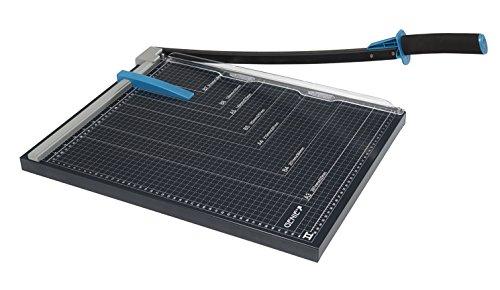 Genie GM A3 Papier-Hebelschneidegerät (geeignet für Formate bis zu DIN A3, 10 Blatt, für Materialien wie Papier, Fotos, Bastelkarton usw., hochwertige Metall-Arbeitsfläche) schwarz/blau