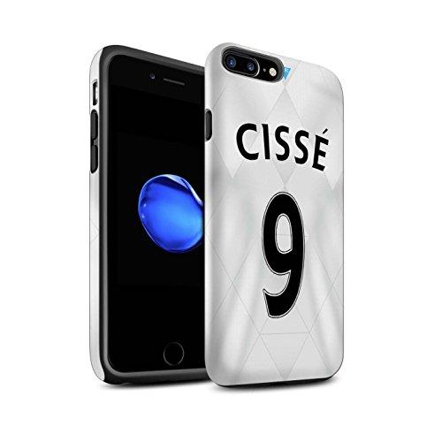 Officiel Newcastle United FC Coque / Matte Robuste Antichoc Etui pour Apple iPhone 7 Plus / Tioté Design / NUFC Maillot Extérieur 15/16 Collection Cissé