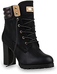 Warm Gefütterte Damen Stiefeletten Worker Boots Outdoor Schuhe
