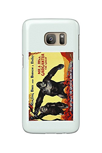 Ringling Bros and Barnum and Bailey Circus Vintage Poster (artist: G.H.) USA c. 1940 (Galaxy S7 Cell Phone Case, Slim Barely There) -