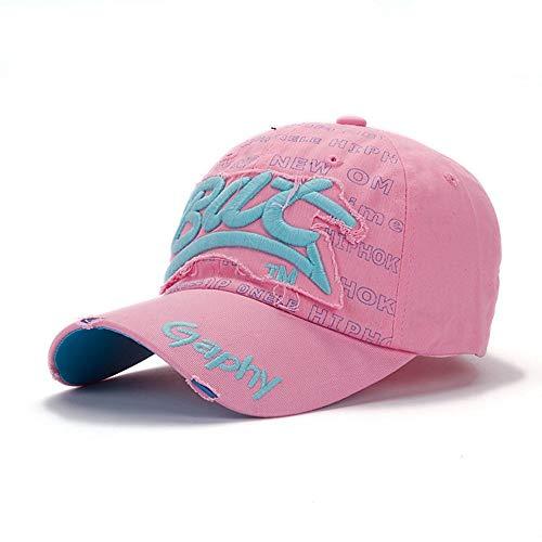 DAMENGXIANG Sport Baseball Cap Männer Frauen Hip Hop Freizeitaktivitäten Golf Sonnenblende Blau Pink