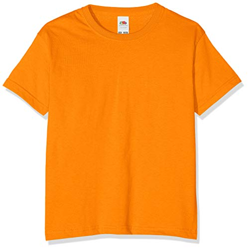 Fruit of the Loom T-shirt pour garçon, Garçon, Orange, 104 cm