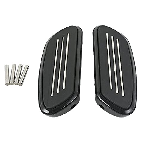 Tengchang motorcycle Streamline Rear Floorboards Footboard For Harley Touring FLT FLHT FLHX