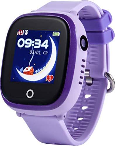 JBC GPS-Telefon Uhr-Modell 2019-Großer Pirat-Wasserdicht mit Kamera und WiFi OHNE Abhörfunktion,SOS Notruf+Telefonfunktion,Live GPS+WiFi+LBS Positionierung,weltweit, Anleitung+App+Support(lila)