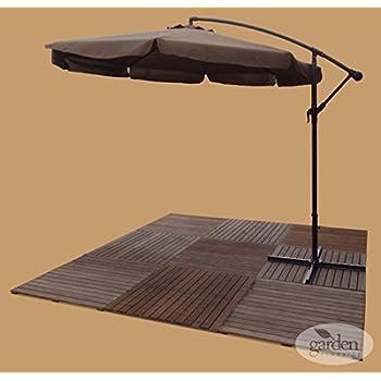 Roma 3m Overhanging Banana Cantilever Crank Sun Shade Garden Patio  Furniture Parasol / Umbrella   Cafe
