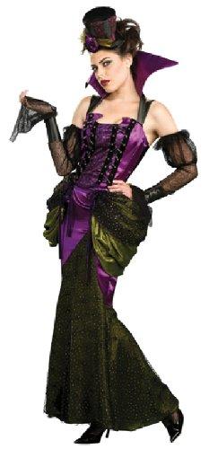 Halloween Damen Kostüm viktorianische Vampirin gruselig edel Größe ()