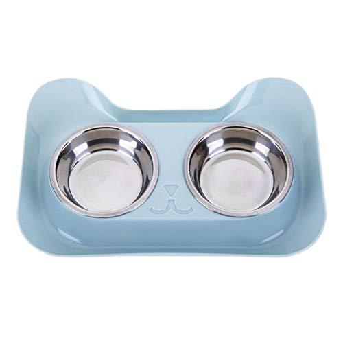 Plastique Jaune Bol Double Chat James De Cat Supplies